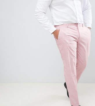 Hatch Asos Design ASOS DESIGN Plus wedding skinny suit pants in pink cross