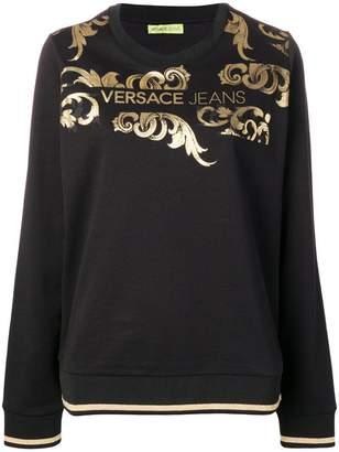 Versace gold-tone printed jumper