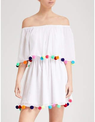 Pitusa Festival off-the-shoulder cotton dress