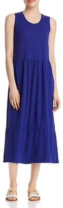 Eileen Fisher Ruffle-Hem Midi Dress