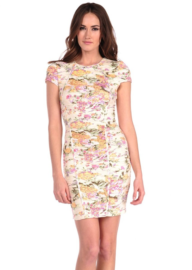 Torn By Ronny Kobo Tulip Pleated Floral Dress