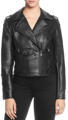 Catherine Malandrino Star-Studded Moto Jacket
