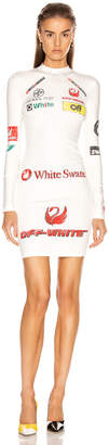 Off-White Off White Multi Logo Sporty Dress in White Multicolor | FWRD