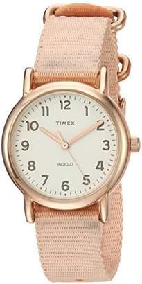 Timex Women's TW2R59900 Weekender 31 -Tone Nylon Slip-Thru Strap Watch
