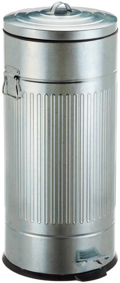 Container Store 8 gal. New York Galvanized Step Can