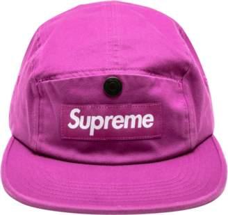Supreme Snap Button Pocket Camp Cap - 'FW 18' - Magenta