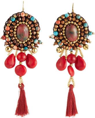 Nakamol Multi-Bead & Tassel Drop Earrings