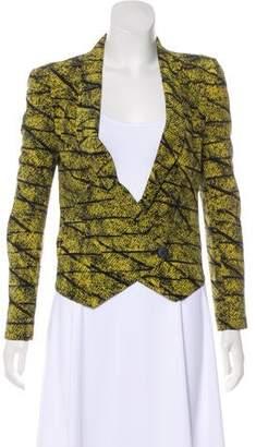 Rebecca Minkoff Printed Silk Blazer