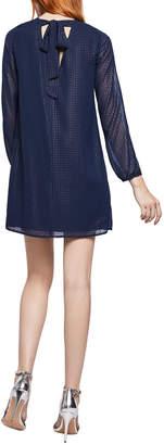 BCBGeneration Metallic Printed Split-Sleeve Bow Shift Dress