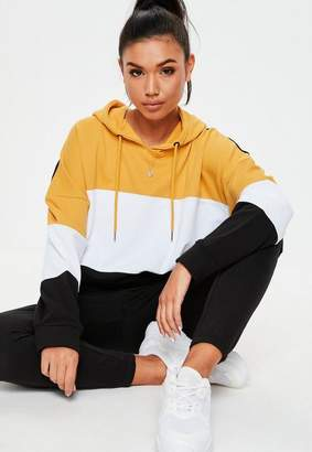 Missguided Black Colorblock Oversized Hoodie