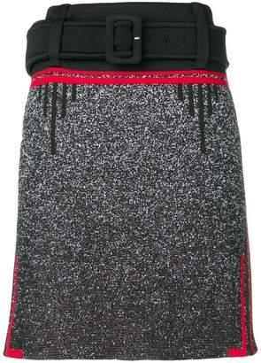 Prada belted knee skirt