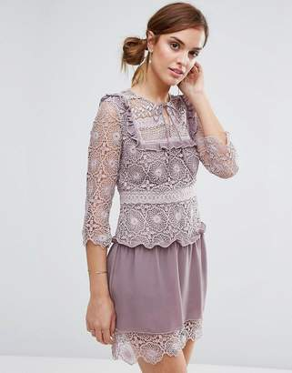 Little White Lies Rachel Lace Bib Detail Dress