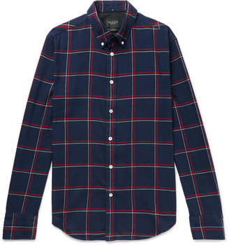 Rag & Bone Fit 2 Tomlin Slim-Fit Button-Down Collar Checked Cotton Oxford Shirt