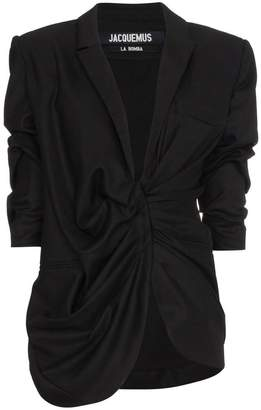 Jacquemus Wool blazer with gathered waist