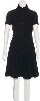 Chanel Pleated Wool Dress
