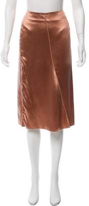Reed Krakoff Knee-Length Satin Skirt