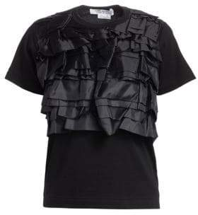Comme des Garcons Layered Ruffled Jersey Tee