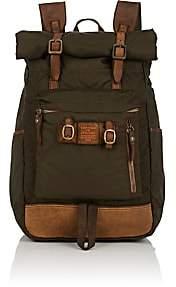 Campomaggi Men's Leather-Trimmed Backpack - Green
