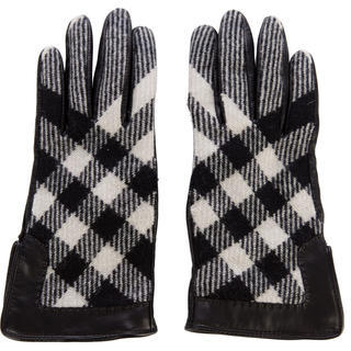 Burberry  Burberry Beat Check Leather Gloves