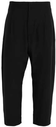 Marni Cropped Silk Crepe De Chine Straight-Leg Pants