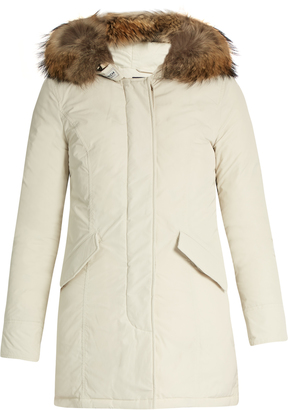WOOLRICH JOHN RICH & BROS. Luxury Arctic fur-trimmed padded parka $713 thestylecure.com