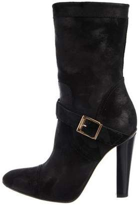 Jimmy Choo Suede Semi Pointed-Toe Boots