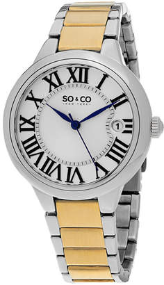 Co SO & Ny Women'S Madison Stainless Steel Silver And Gold Tone Bracelet Dress Quartz Watch J154P69