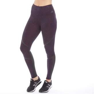 New Balance Womens Printed Splatter Running Tight Leggings Claret