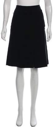 Malo Velvet Knee-Length Skirt