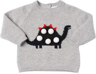 Il Gufo Dino Intarsia Wool Knit Sweater
