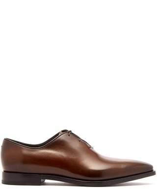 Berluti - Alessandro éclair Leather Oxford Shoes - Mens - Brown