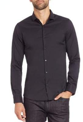 Michael Kors Stretch Solid Button-Down Shirt
