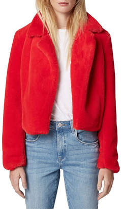 Blank NYC Red Faux Fur Blazer