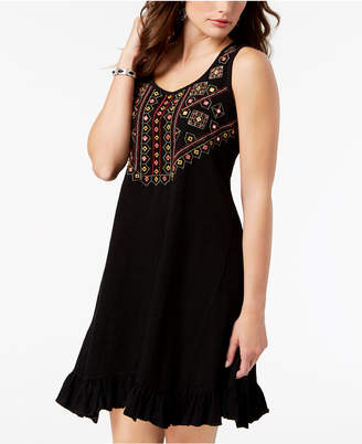 Style&Co. Style & Co Cotton Embroidered A-line Dress, Created for Macy's