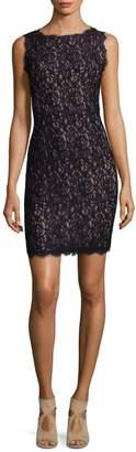 Adrianna Papell Sleeveless Lace Sheath Dress