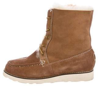 Australia Luxe Collective Suede Shearling Ankle Boots