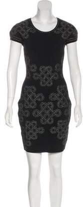 Diane von Furstenberg Metallic Bodycon Dress w/ Tags