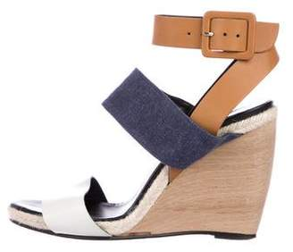 Pierre Hardy Leather Jute Wedges
