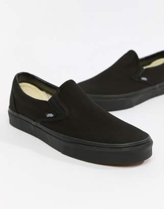efbca682ce8 Vans Classic Slip-Ons In Black VEYEBKA