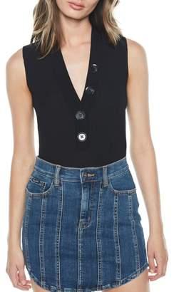 Bardot Button Bodysuit