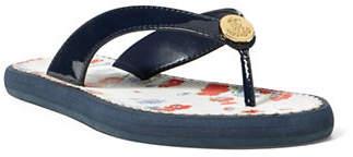 Lauren Ralph Lauren Patent Faux-Leather Sandal