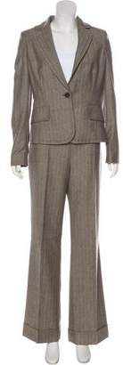 Valentino Tailored Wool Notch Lapel Pantsuit