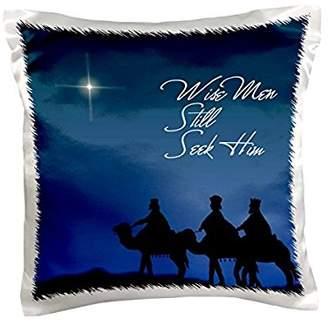 3dRose Wise men still seek Him Magi following the Christmas star , Pillow Case, 16 by 16-inch
