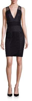 KENDALL + KYLIE Grid Laser-Cut Sheath Dress
