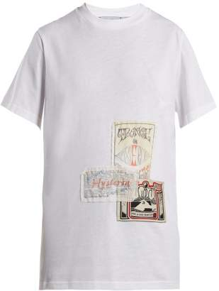 Martine Rose Patch Cotton T Shirt - Womens - White