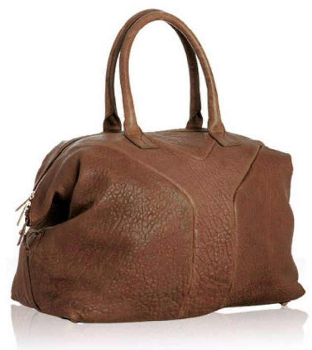 Yves Saint Laurent calf brown lambskin leather 'Sac 57' satchel
