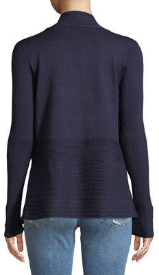 Verve Multi-Ribbed Open-Front Cardigan