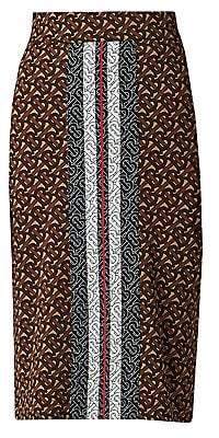 Burberry Women's Monogram Jemmi Knit Pencil Skirt