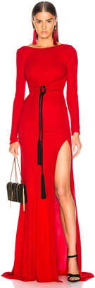 Dundas Open Back Viscose Jersey Gown in Red | FWRD