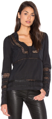 DEREK LAM 10 CROSBY Low V-Neck Blouse $395 thestylecure.com